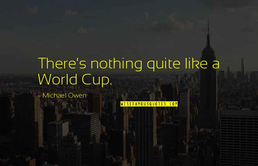 World Cup Quotes By Michael Owen: There's nothing quite like a World Cup.