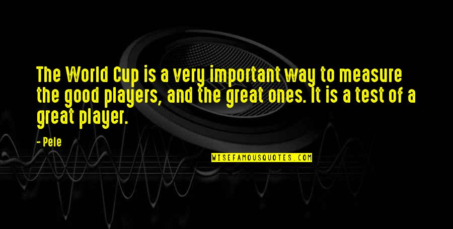 World Cup Quotes By Pele: The World Cup is a very important way