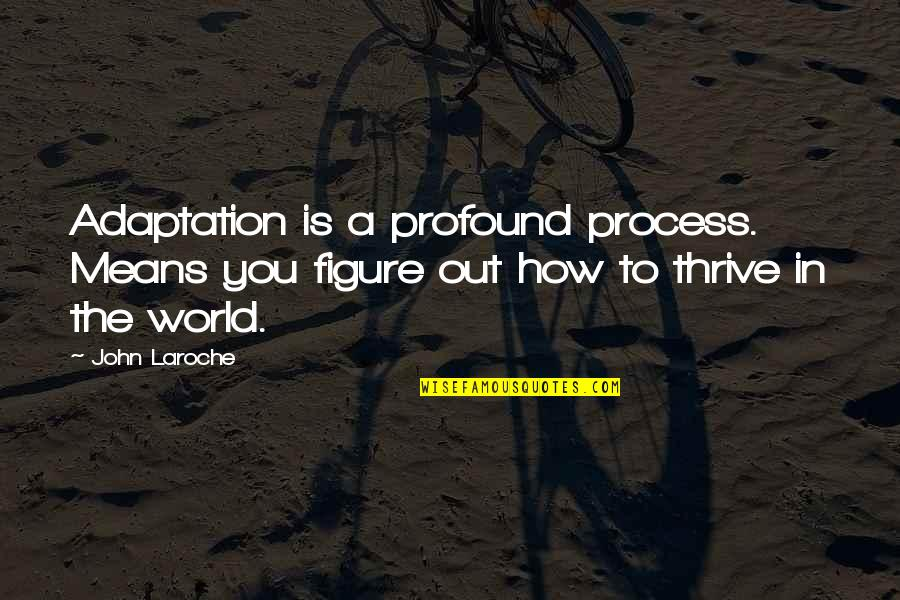 World Is Mean Quotes By John Laroche: Adaptation is a profound process. Means you figure