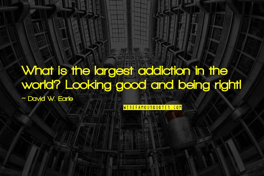 World Is Quotes By David W. Earle: What is the largest addiction in the world?