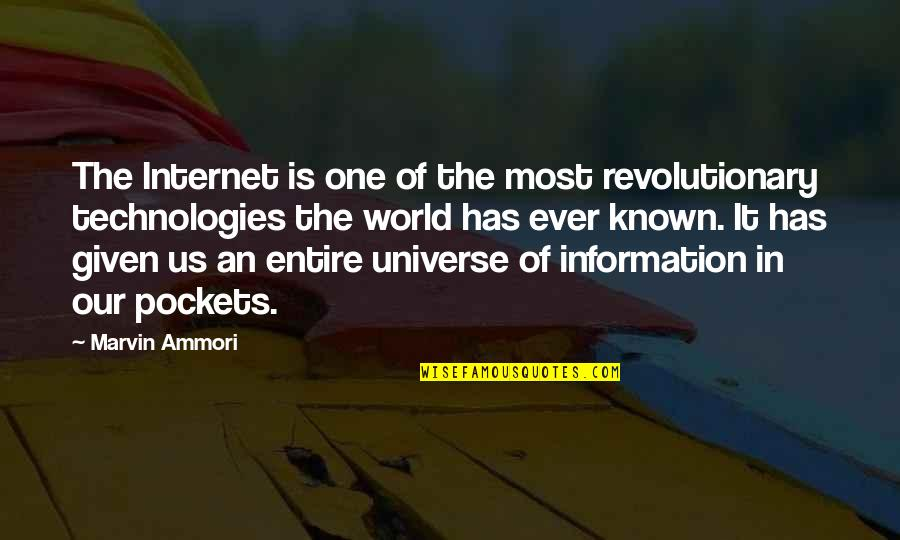 World Is Quotes By Marvin Ammori: The Internet is one of the most revolutionary