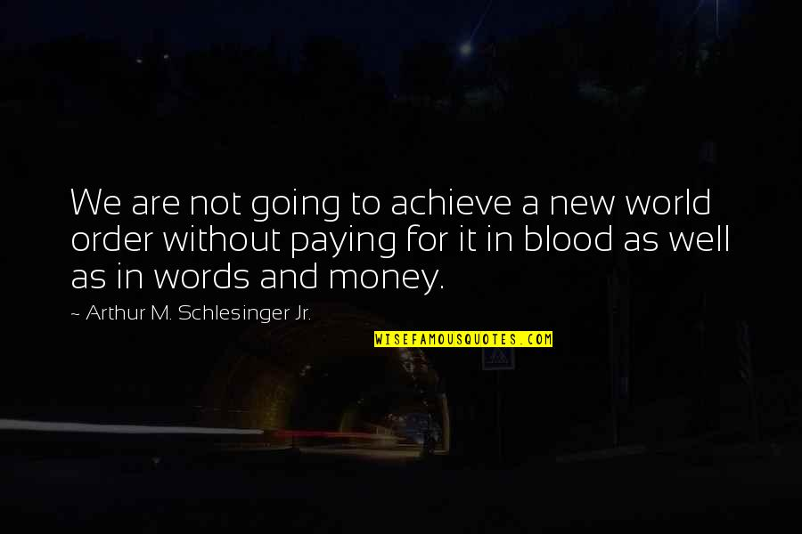 World Without Money Quotes By Arthur M. Schlesinger Jr.: We are not going to achieve a new