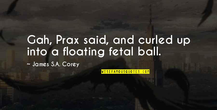 Worldlier Quotes By James S.A. Corey: Gah, Prax said, and curled up into a