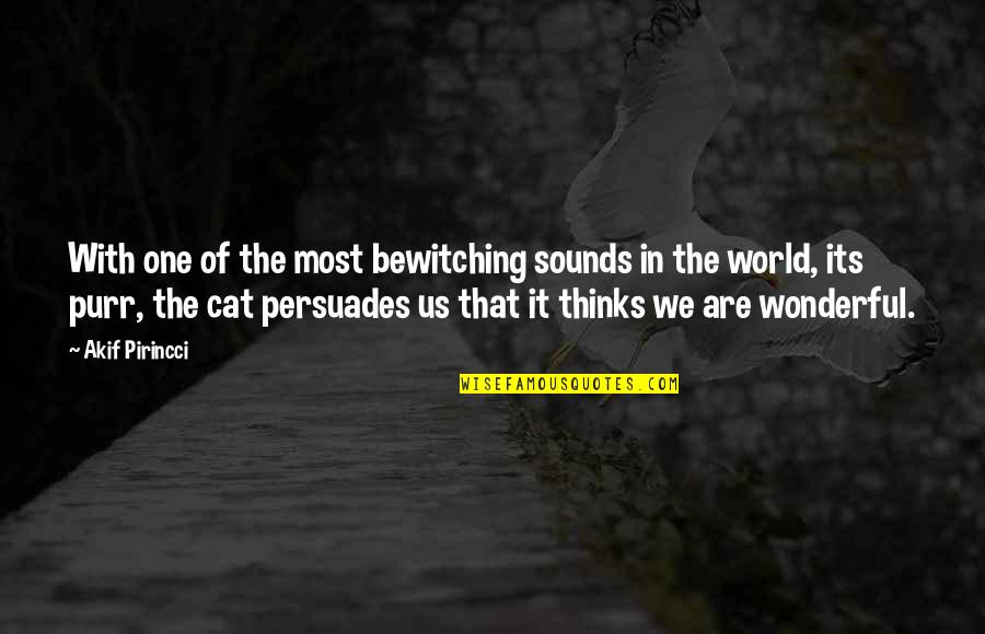 World's Most Wonderful Quotes By Akif Pirincci: With one of the most bewitching sounds in