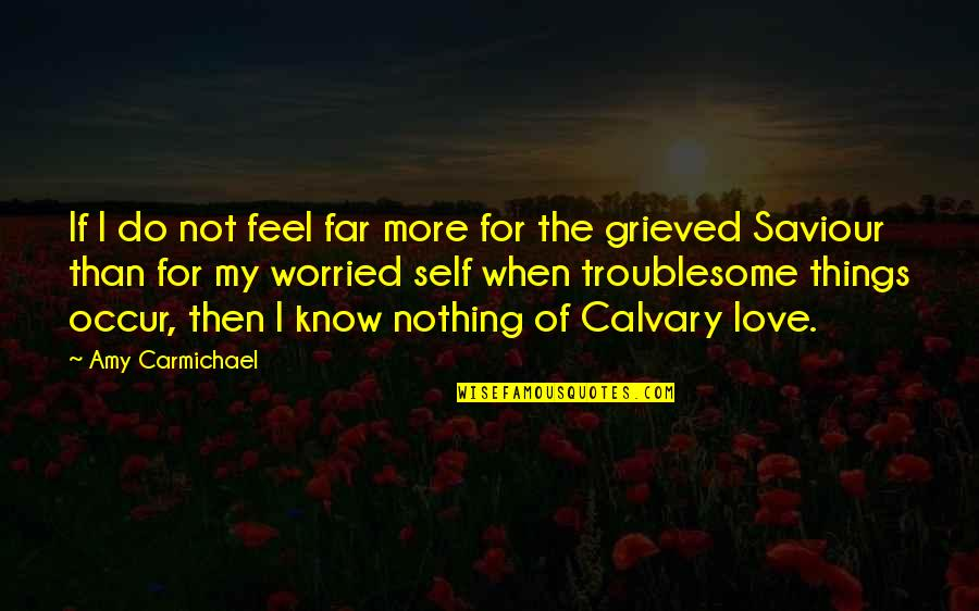 Worried For Love Quotes By Amy Carmichael: If I do not feel far more for