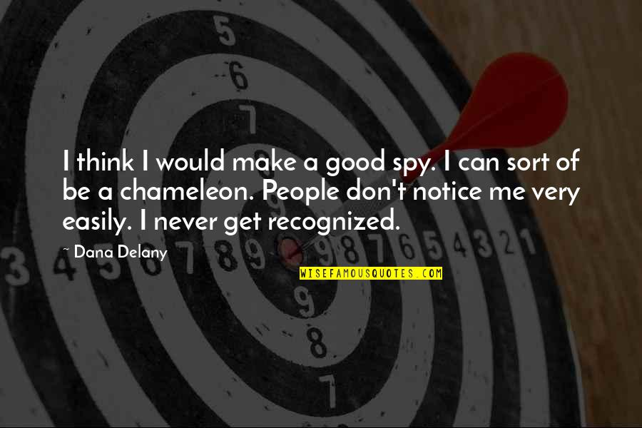 Would You Notice Quotes By Dana Delany: I think I would make a good spy.