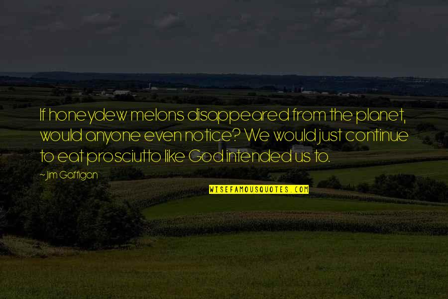 Would You Notice Quotes By Jim Gaffigan: If honeydew melons disappeared from the planet, would