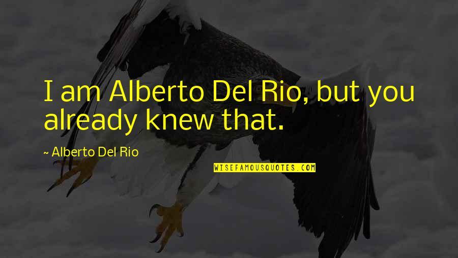 Wrestling Quotes By Alberto Del Rio: I am Alberto Del Rio, but you already