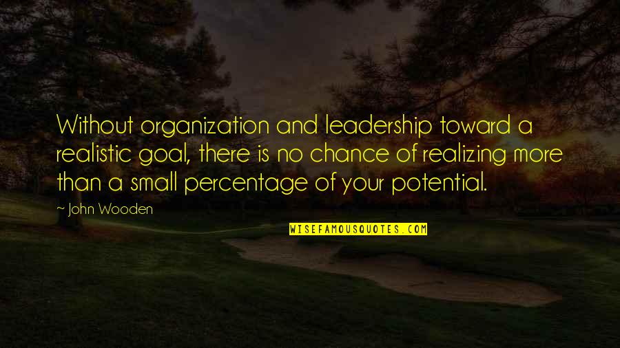 Wrestling Quotes By John Wooden: Without organization and leadership toward a realistic goal,