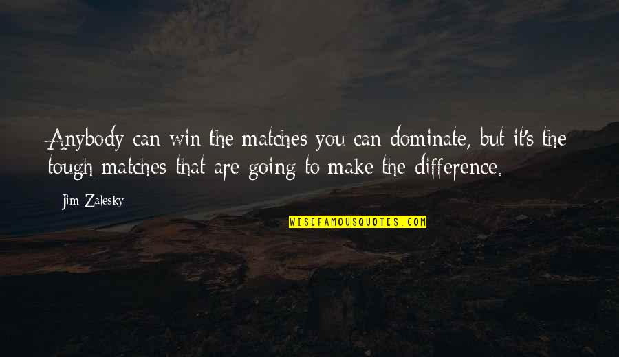 Wrestling's Quotes By Jim Zalesky: Anybody can win the matches you can dominate,