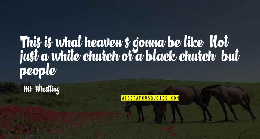Wrestling's Quotes By Mr. Wrestling: This is what heaven's gonna be like. Not