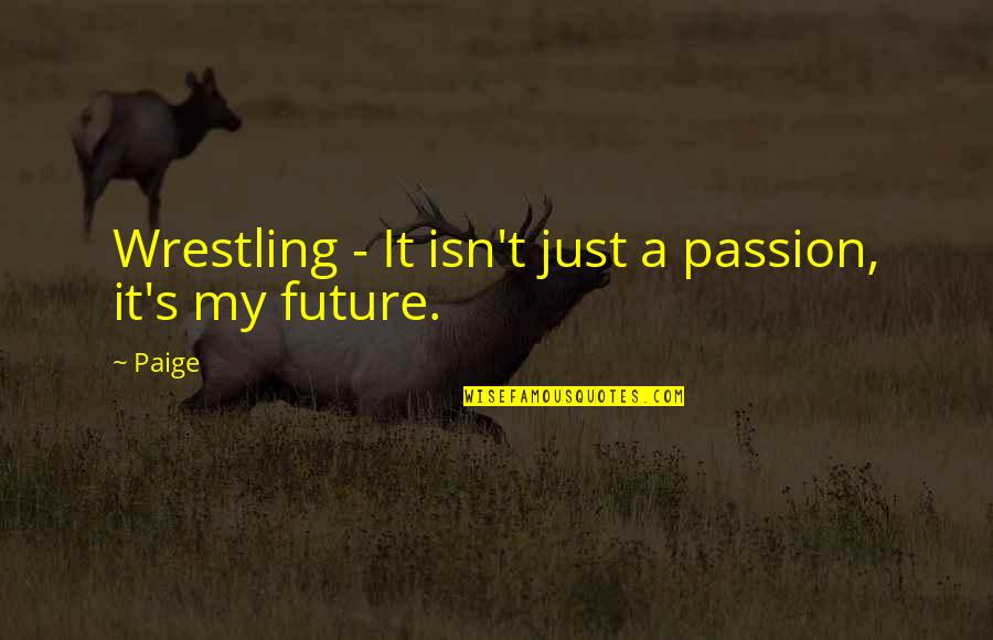 Wrestling's Quotes By Paige: Wrestling - It isn't just a passion, it's