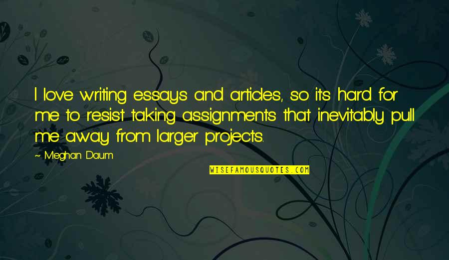 Writing Essays On Quotes By Meghan Daum: I love writing essays and articles, so it's