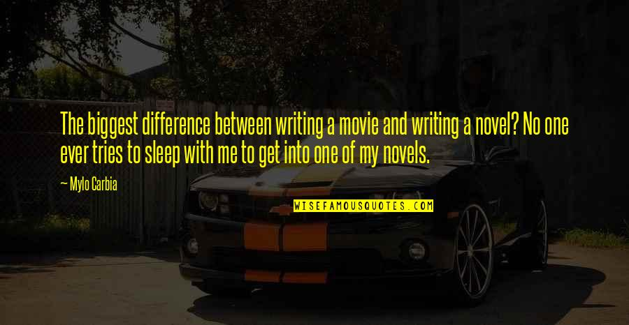 Writing Famous Authors Quotes By Mylo Carbia: The biggest difference between writing a movie and