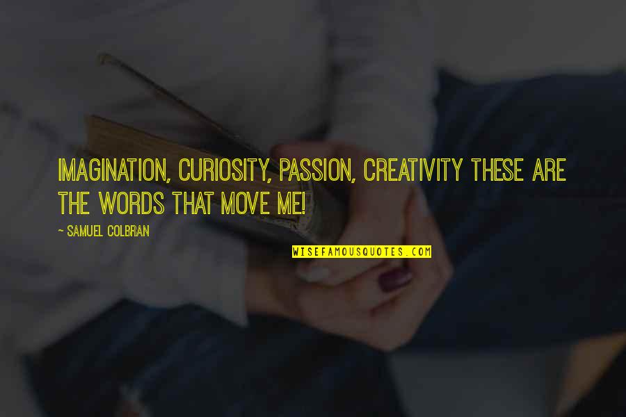 Writing Philosophy Quotes By Samuel Colbran: Imagination, curiosity, passion, creativity these are the words