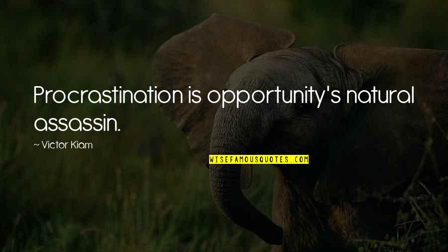 Writing Procrastination Quotes By Victor Kiam: Procrastination is opportunity's natural assassin.