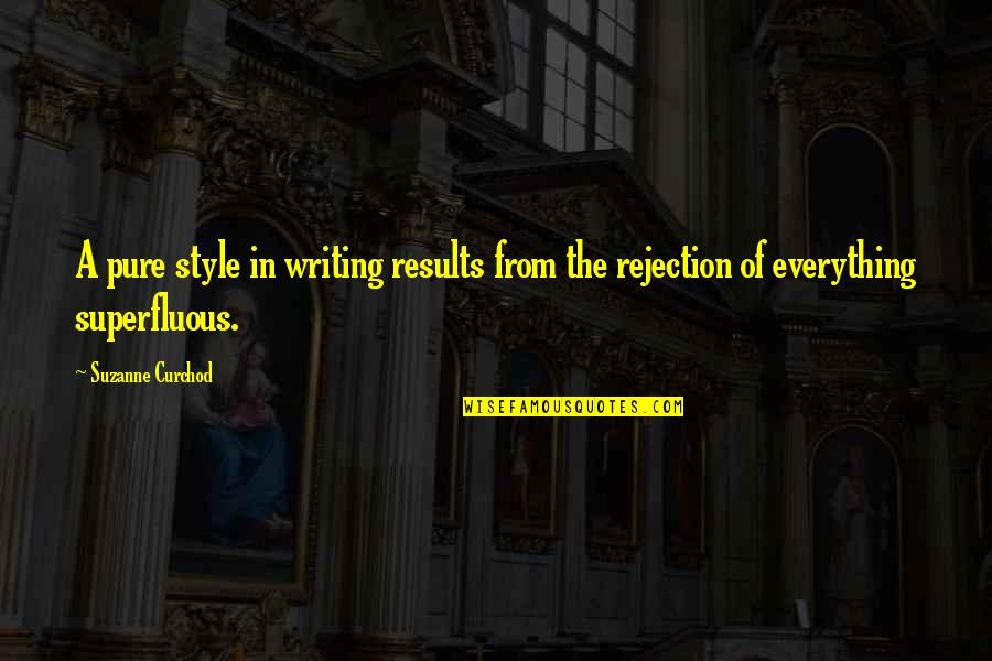 Writing Style Quotes By Suzanne Curchod: A pure style in writing results from the