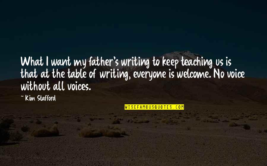 Writing Voice Quotes By Kim Stafford: What I want my father's writing to keep