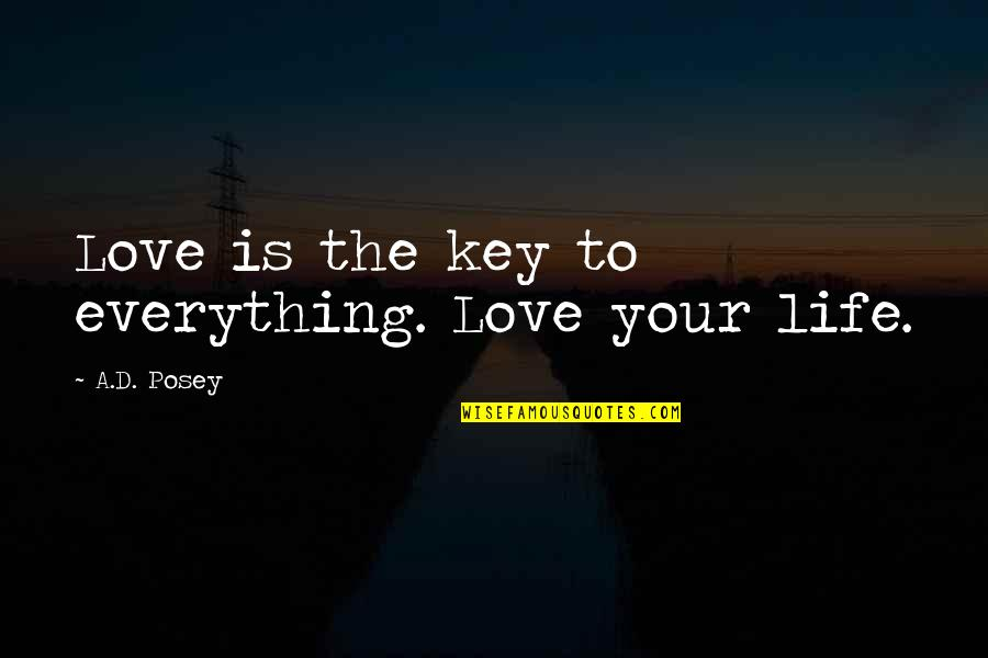 Writing Your Story Quotes By A.D. Posey: Love is the key to everything. Love your