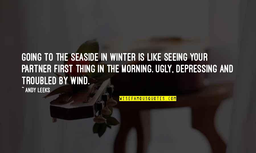 Written On Body Quotes By Andy Leeks: Going to the seaside in winter is like
