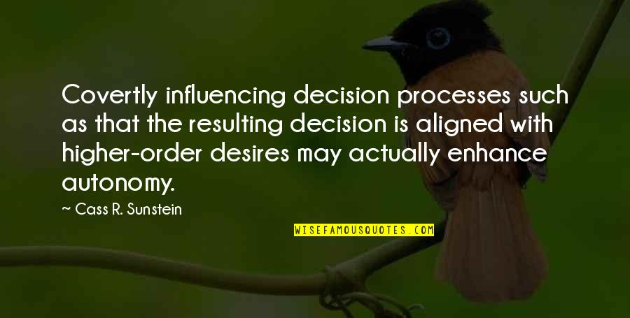 Writting Quotes By Cass R. Sunstein: Covertly influencing decision processes such as that the