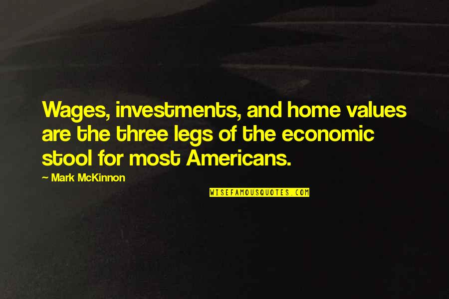 Wrong Tone Of Voice Quotes By Mark McKinnon: Wages, investments, and home values are the three