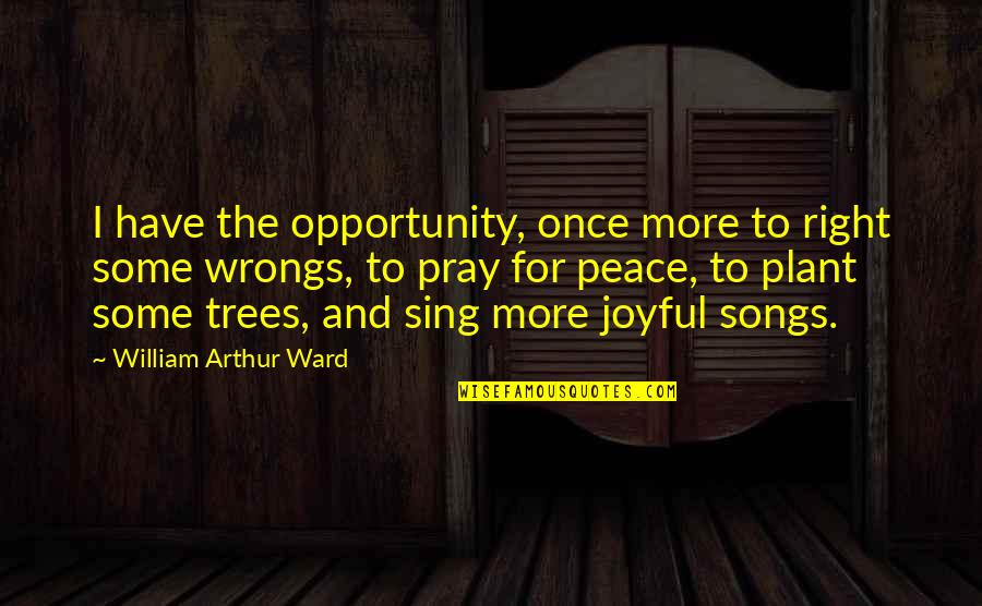 Wrongs Quotes By William Arthur Ward: I have the opportunity, once more to right