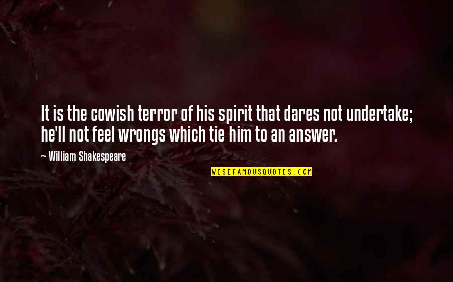 Wrongs Quotes By William Shakespeare: It is the cowish terror of his spirit