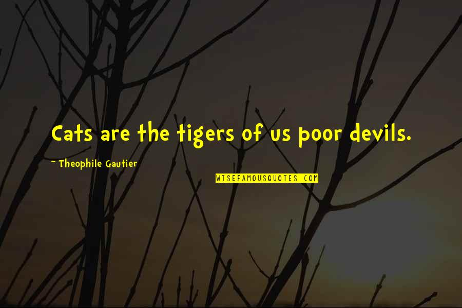 Wwe Paul Bearer Quotes By Theophile Gautier: Cats are the tigers of us poor devils.