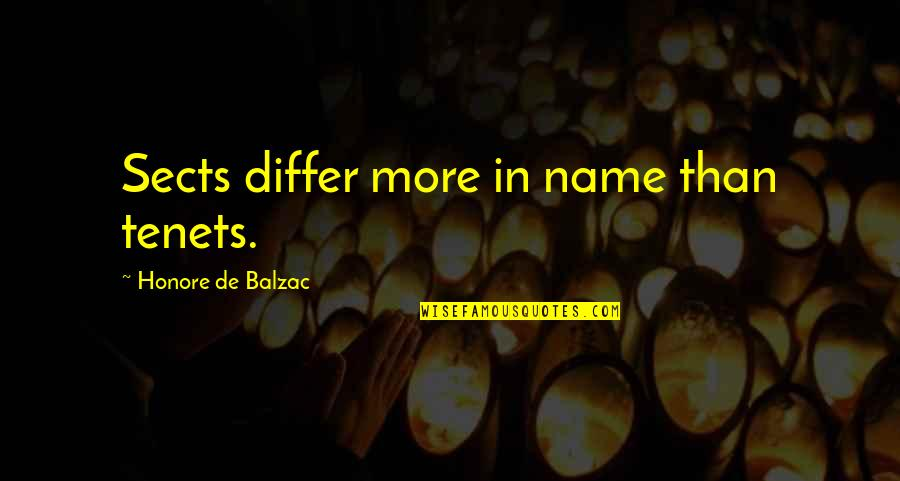 Xmas Eve Quotes By Honore De Balzac: Sects differ more in name than tenets.
