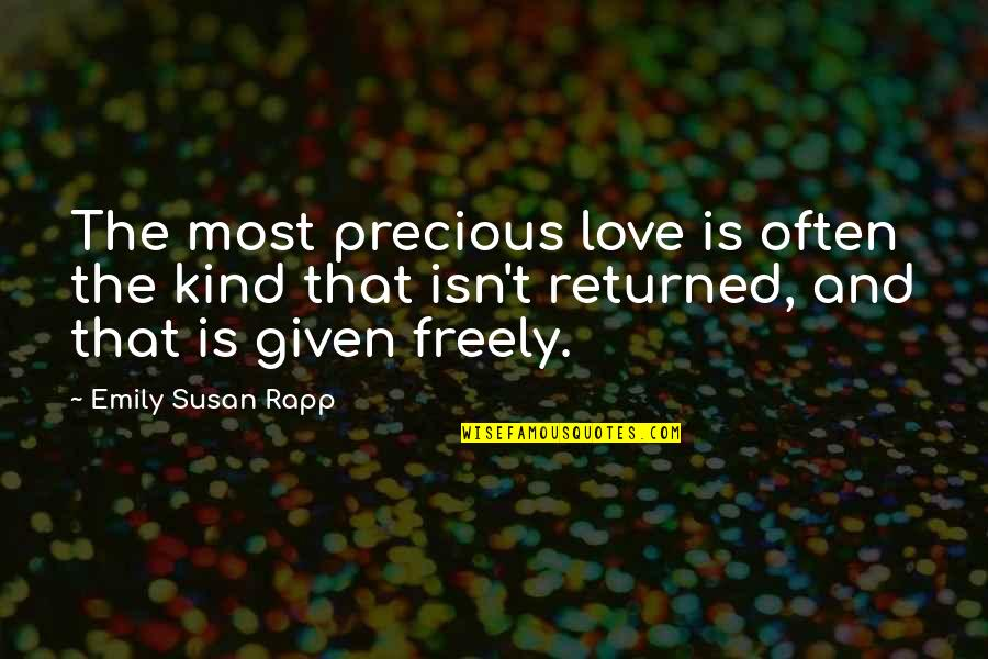 Yahoo International Stock Market Quotes By Emily Susan Rapp: The most precious love is often the kind
