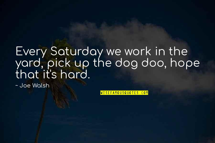 Yards Quotes By Joe Walsh: Every Saturday we work in the yard, pick