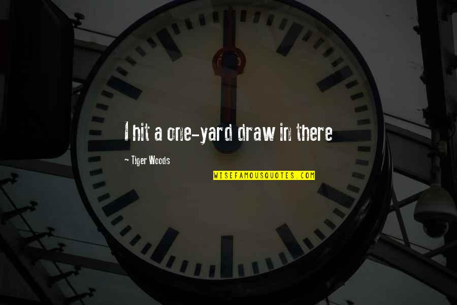 Yards Quotes By Tiger Woods: I hit a one-yard draw in there