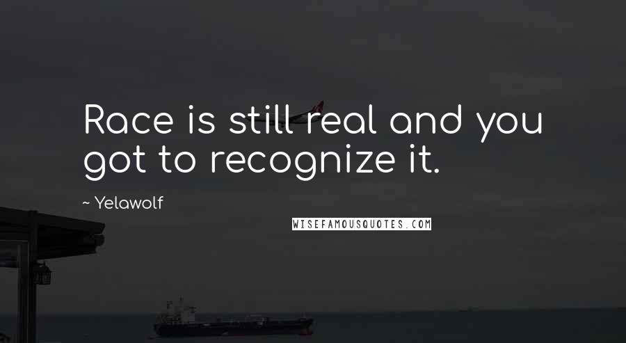 Yelawolf quotes: Race is still real and you got to recognize it.