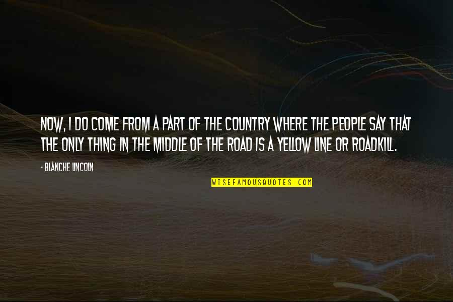 Yellow Quotes By Blanche Lincoln: Now, I do come from a part of