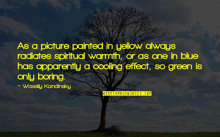 Yellow Quotes By Wassily Kandinsky: As a picture painted in yellow always radiates