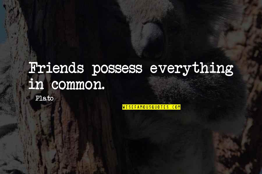 Yemeni Quotes By Plato: Friends possess everything in common.