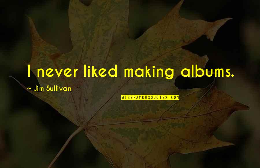 Ymcmb Song Quotes By Jim Sullivan: I never liked making albums.