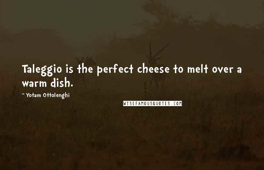 Yotam Ottolenghi quotes: Taleggio is the perfect cheese to melt over a warm dish.