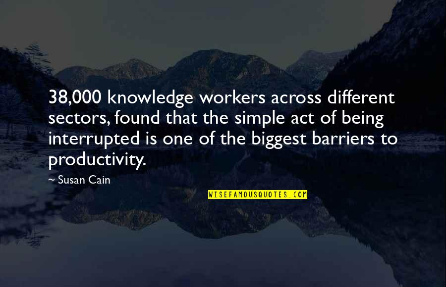 You Act So Different Quotes By Susan Cain: 38,000 knowledge workers across different sectors, found that