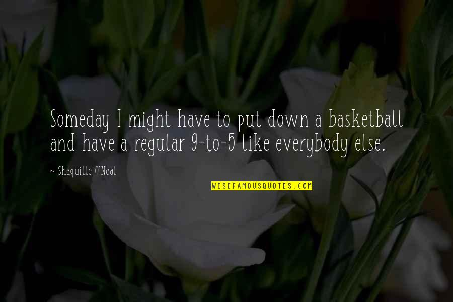 You Ain't Grown Quotes By Shaquille O'Neal: Someday I might have to put down a
