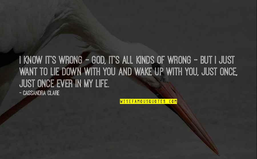 You And God Quotes By Cassandra Clare: I know it's wrong - God, it's all