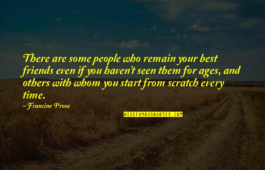 You And Your Best Friends Quotes By Francine Prose: There are some people who remain your best