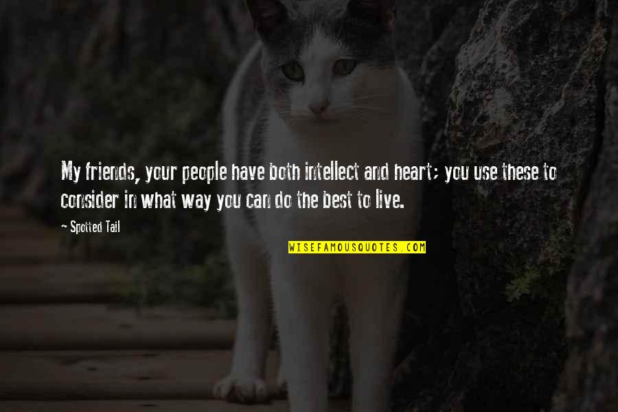 You And Your Best Friends Quotes By Spotted Tail: My friends, your people have both intellect and