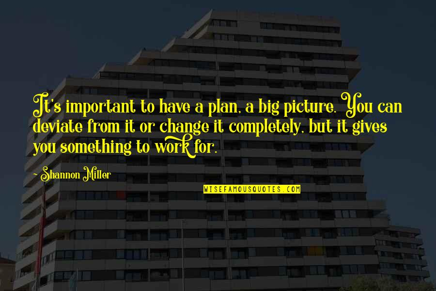 You Are Important Picture Quotes By Shannon Miller: It's important to have a plan, a big