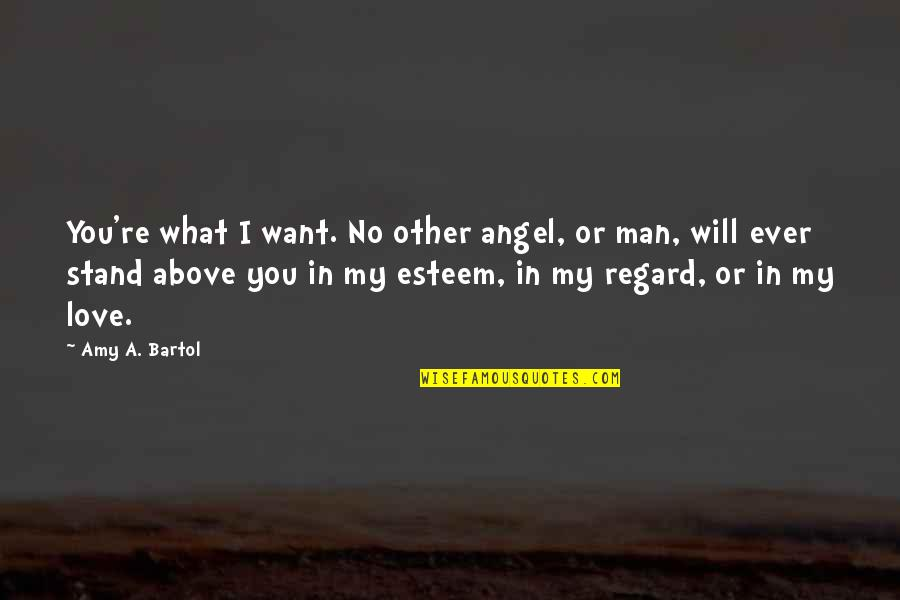 You Are My Angel From Above Quotes By Amy A. Bartol: You're what I want. No other angel, or