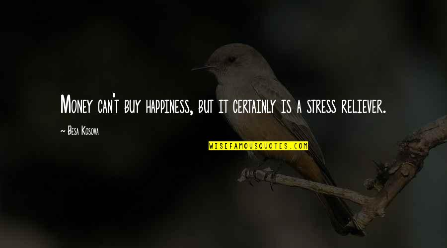 You Are My Stress Reliever Quotes By Besa Kosova: Money can't buy happiness, but it certainly is