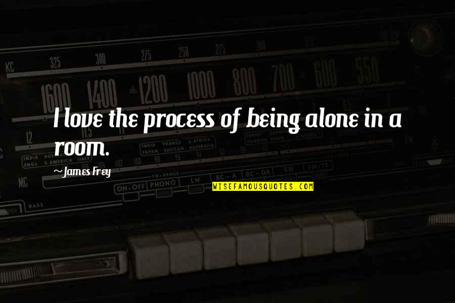 You Are Not Alone Love Quotes By James Frey: I love the process of being alone in