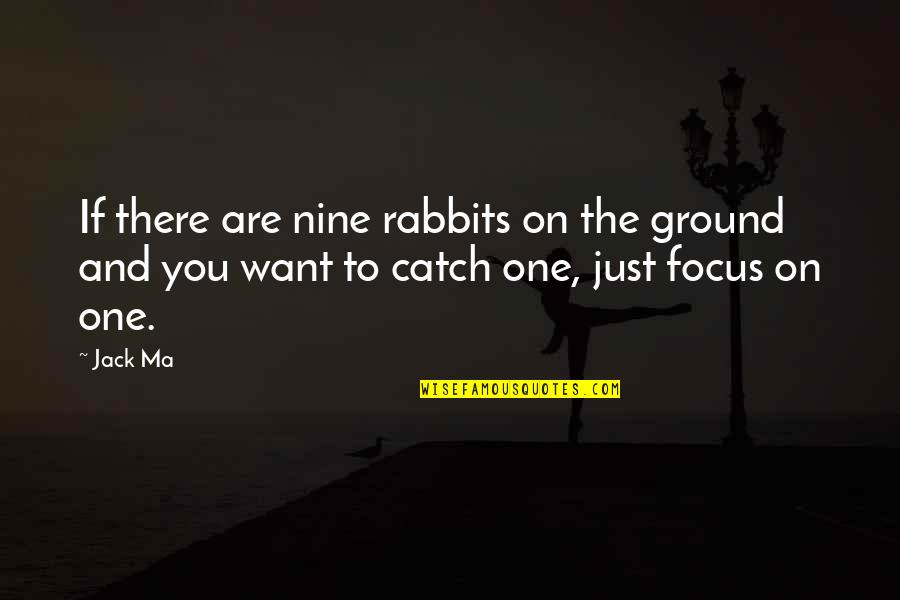 You Are One Quotes By Jack Ma: If there are nine rabbits on the ground