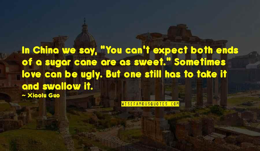 """You Are Sweet As Quotes By Xiaolu Guo: In China we say, """"You can't expect both"""